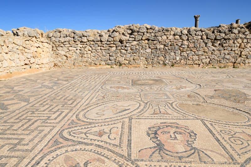 Ruinas de la ciudad de Roman Volubilis en Marruecos foto de archivo