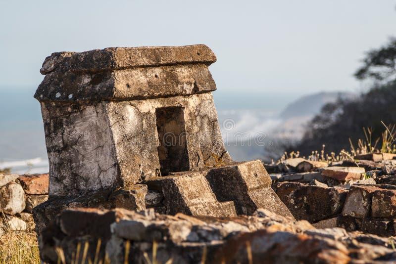 Ruinas de la ciudad Quiahuiztlan, estado de los pre-hispanos de Veracruz imágenes de archivo libres de regalías