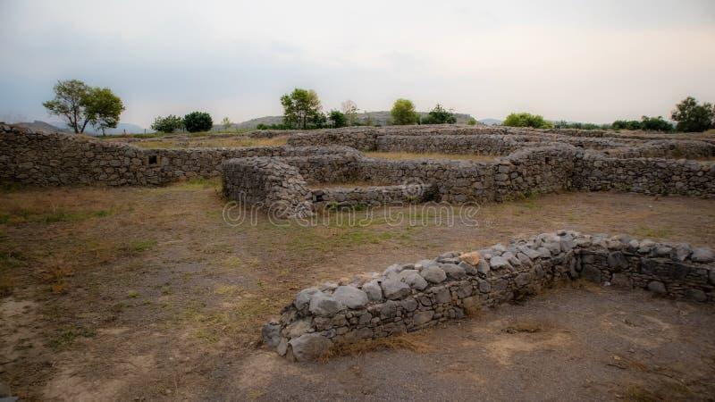 Ruinas de la ciudad de Sirkap, Taxila, Paquist?n fotos de archivo libres de regalías