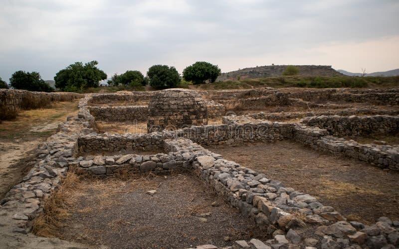 Ruinas de la ciudad de Sirkap, Taxila, Paquist?n imagen de archivo