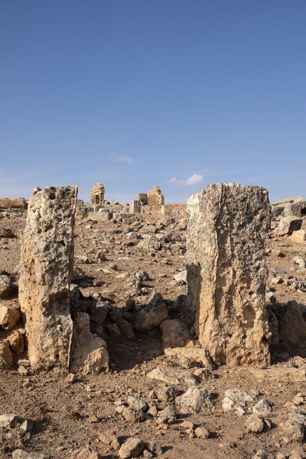 Ruinas de la ciudad de Suayb en Sanliurfa, Turquía fotografía de archivo