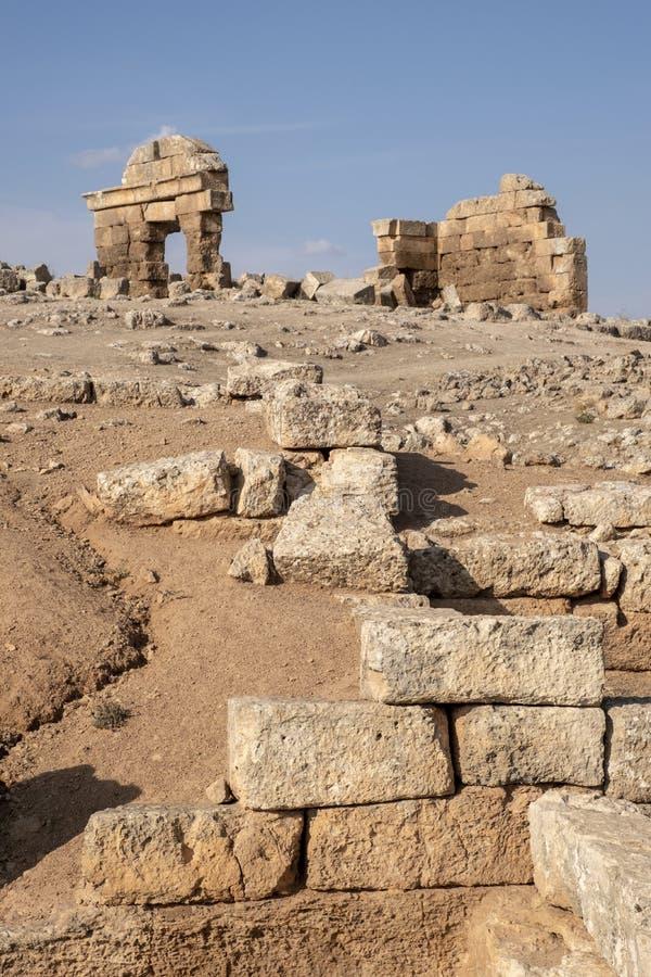 Ruinas de la ciudad de Suayb en Sanliurfa, Turquía imagen de archivo