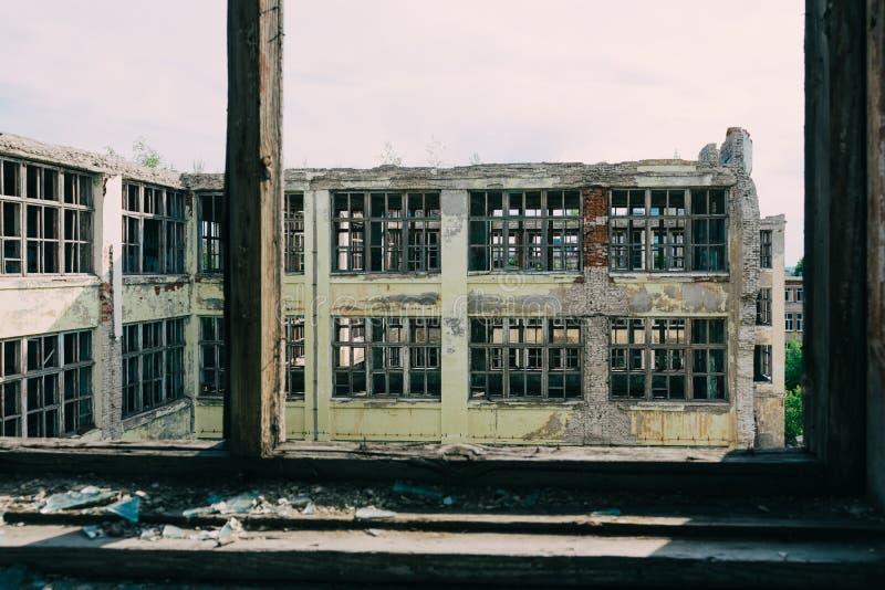 Ruinas de la empresa industrial anterior imagen de archivo libre de regalías