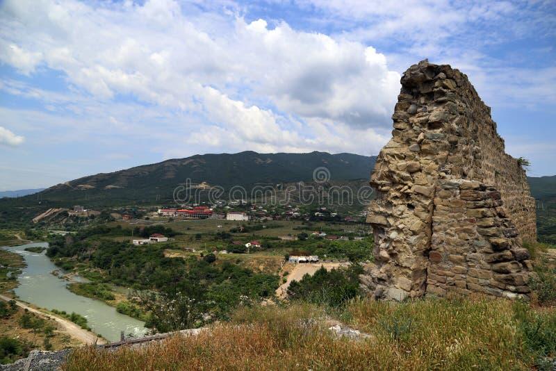 Ruinas de la fortaleza de Bebriscic fotografía de archivo