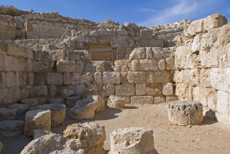 Ruinas de la fortaleza de Herod, el grande, Herodium, Palestina fotografía de archivo libre de regalías