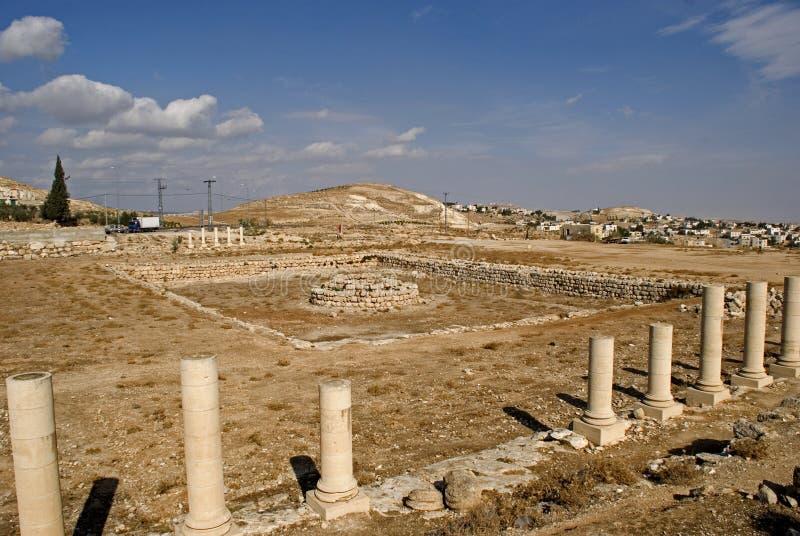 Ruinas de la fortaleza de Herod, el grande, Herodium, Palestina imagen de archivo
