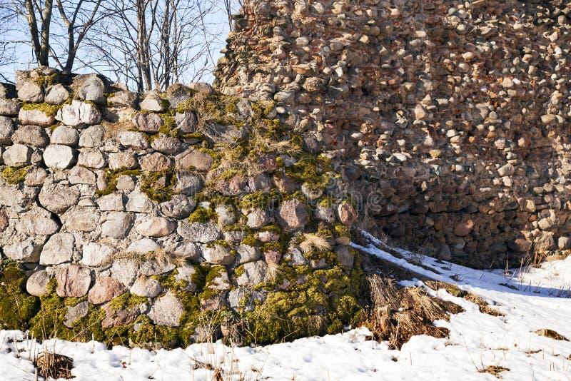 Ruinas de la fortaleza (Krevo) fotos de archivo libres de regalías