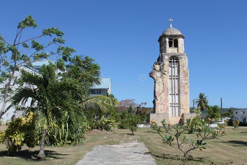 Ruinas de la iglesia de Tinian fotos de archivo