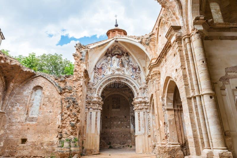 Ruinas de la iglesia del monasterio de Piedra fotos de archivo libres de regalías