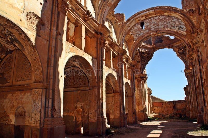 Ruinas de la iglesia de San AgustÃÂn, Belchite, España imagen de archivo libre de regalías