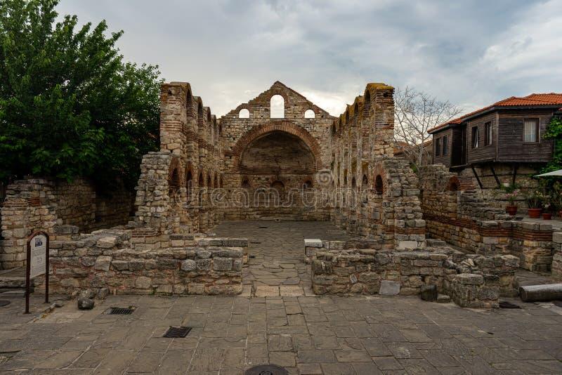Ruinas de la iglesia siglo construido Sofía del santo del 5to-6to fotografía de archivo
