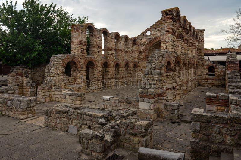 Ruinas de la iglesia siglo construido Sofía del santo del 5to-6to imagen de archivo
