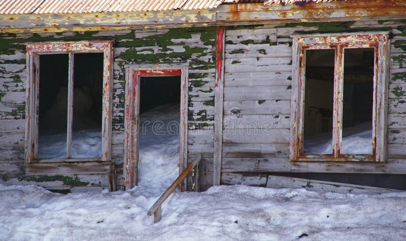 Ruinas de la isla del engaño - Ant3artida fotografía de archivo