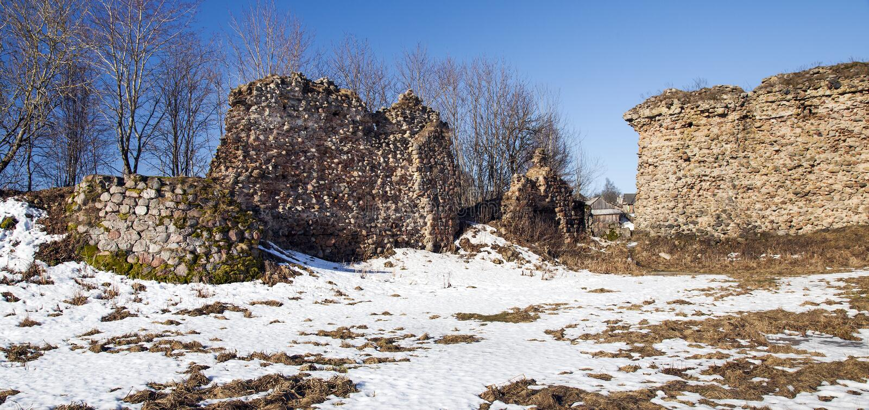 Ruinas de la pared fotos de archivo libres de regalías