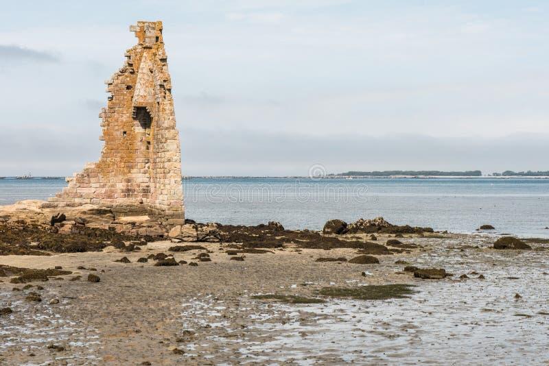 Ruinas de la torre de San Saturn, Cambados fotografía de archivo