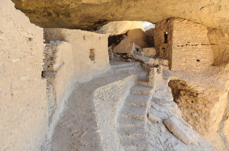 Ruinas de la vivienda de acantilado de Gila fotos de archivo libres de regalías