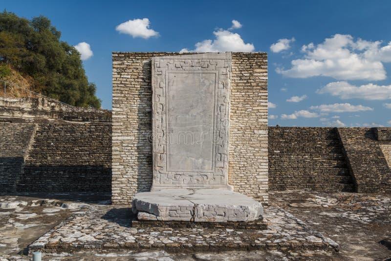 Ruinas de las estructuras de los pre-hispanos en Cholula, Puebla imagenes de archivo