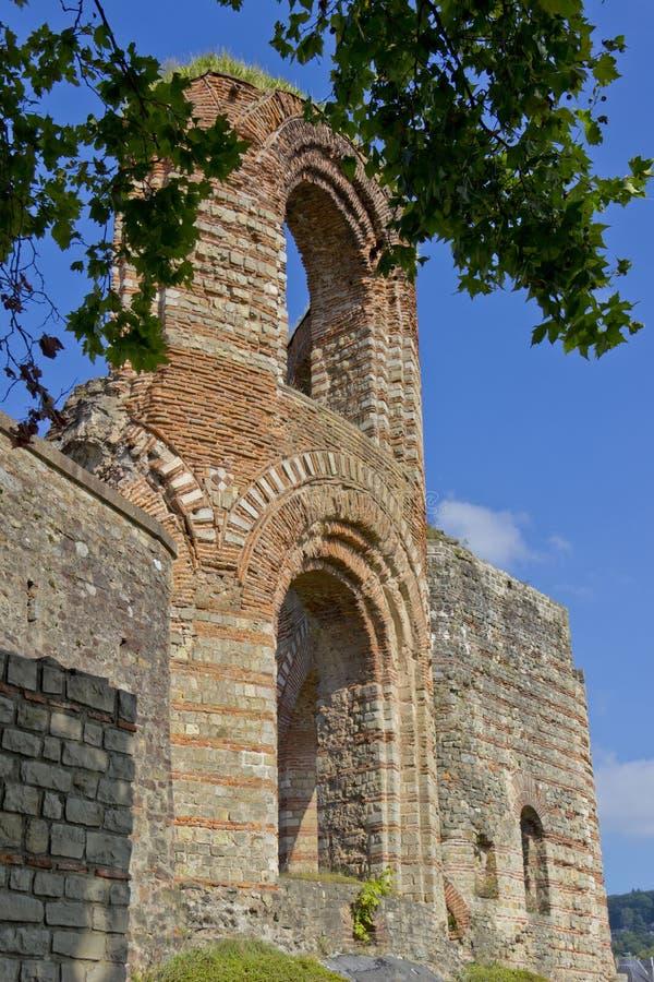 Ruinas de los emperadores en Trier fotos de archivo
