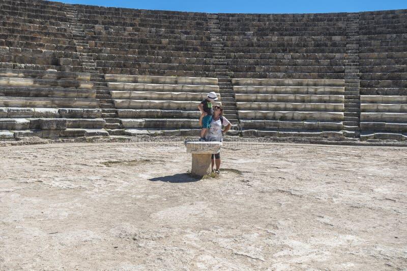 Ruinas de los salamis de la ciudad en Fama, Chipre fotos de archivo libres de regalías