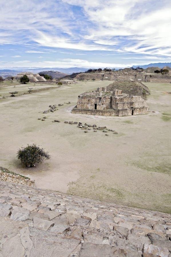 Ruinas de Monte Alban, México fotografía de archivo libre de regalías