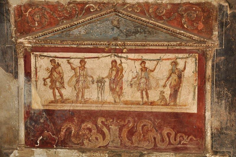 Ruinas de Pompeii foto de archivo