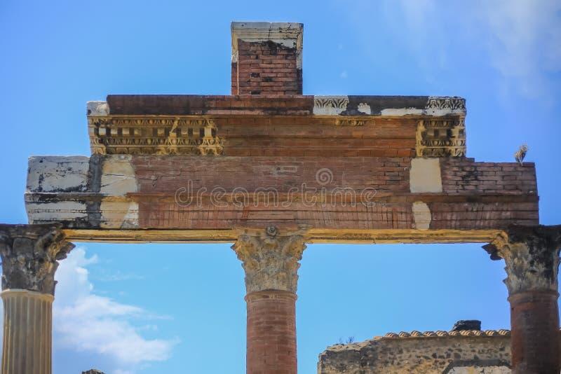 Ruinas de Pompeya imagen de archivo