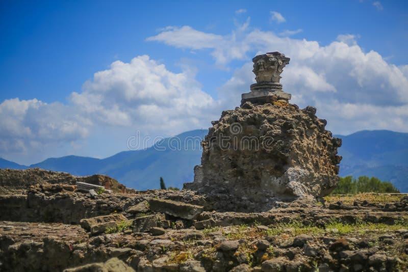 Ruinas de Pompeya imágenes de archivo libres de regalías