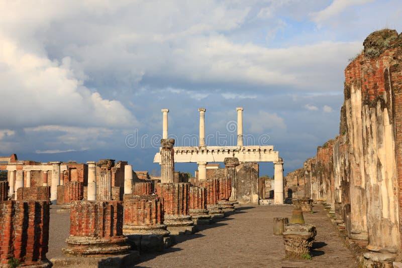 Ruinas de Pompeya fotografía de archivo libre de regalías