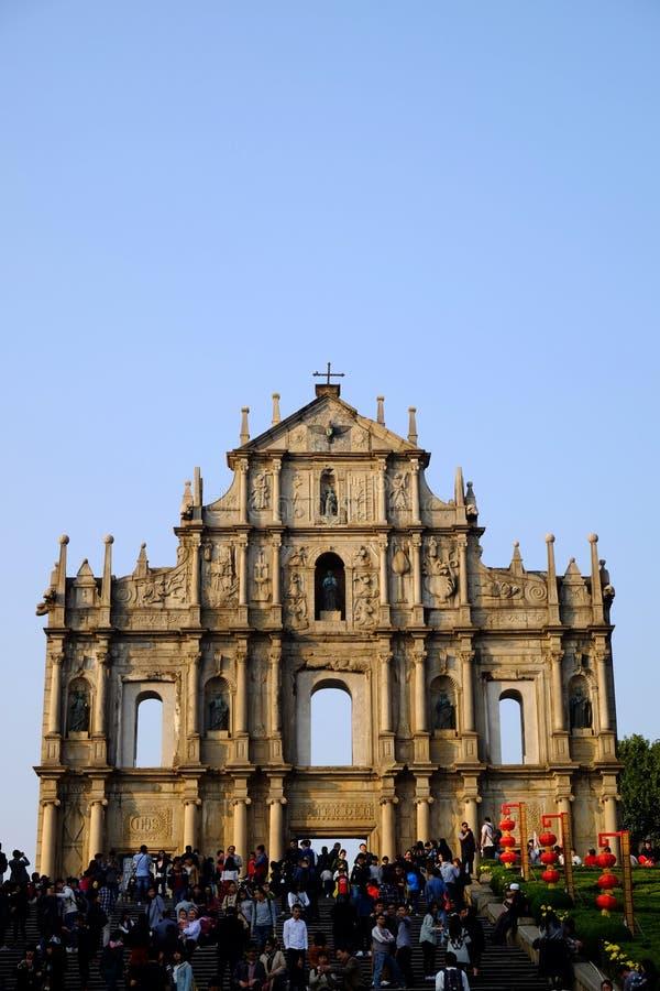 Ruinas de San Pablo en Macao fotografía de archivo libre de regalías
