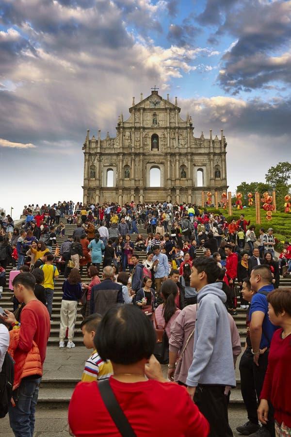 Ruinas de San Pablo, Macao foto de archivo libre de regalías