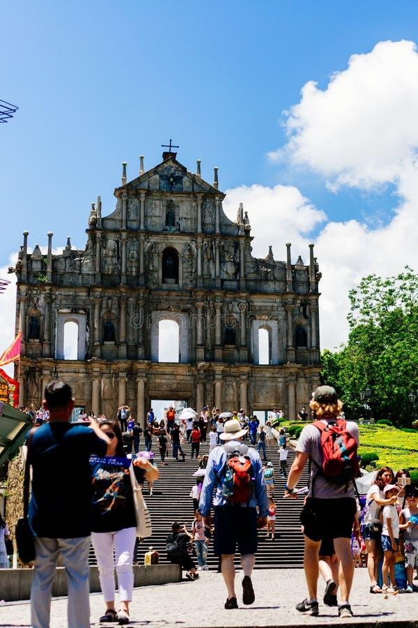 Ruinas de San Pablo s en Macao fotos de archivo libres de regalías