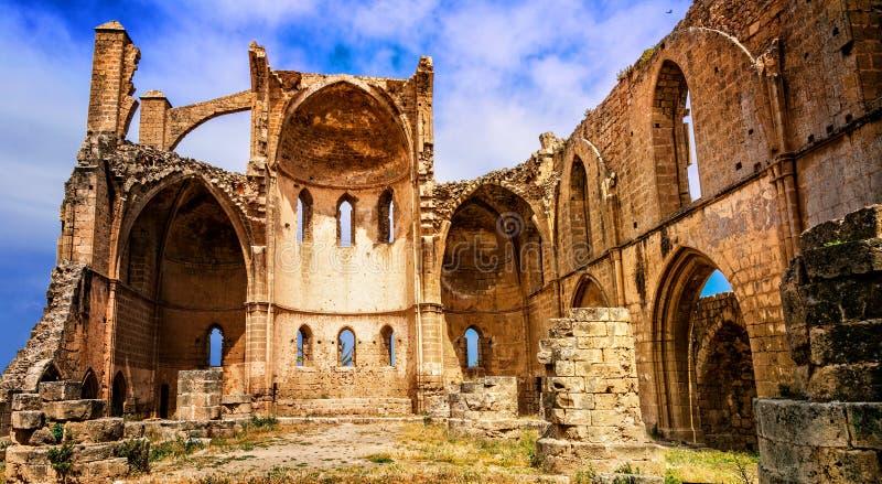 Ruinas de St Georges Church Magosa Northern Cyprus imagen de archivo