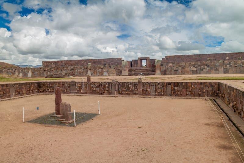 Ruinas de Tiwanaku, Bolivia fotos de archivo libres de regalías