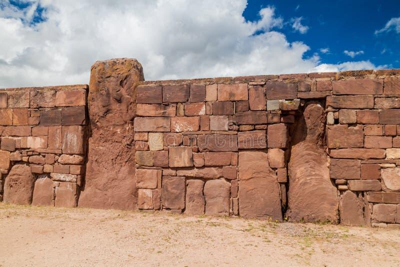 Ruinas de Tiwanaku, Bolivia imágenes de archivo libres de regalías