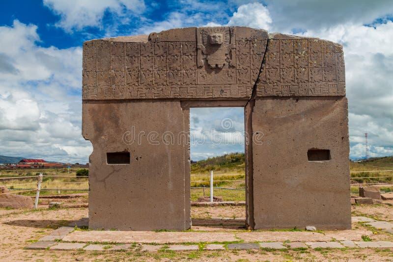 Ruinas de Tiwanaku, Bolivia imagen de archivo
