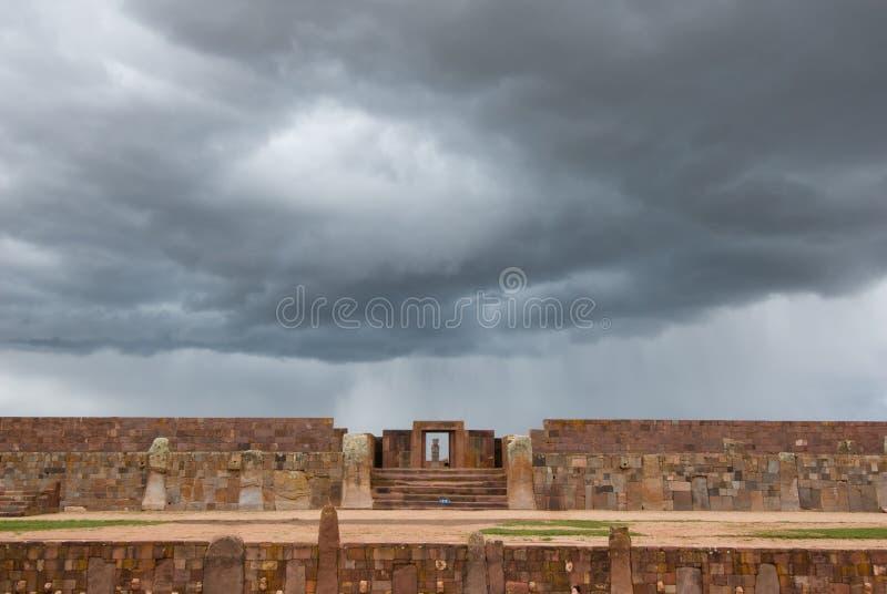 Ruinas de Tiwanaku, Bolivia foto de archivo libre de regalías