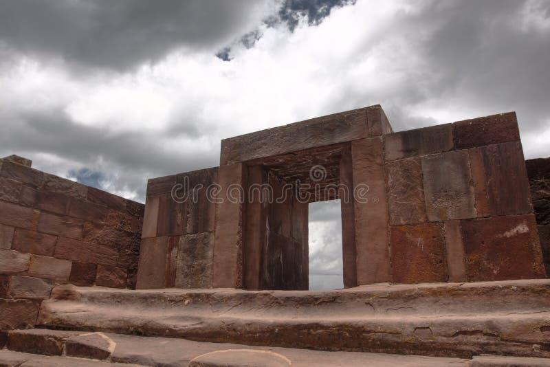 Ruinas de Tiwanaku, La Paz fotos de archivo