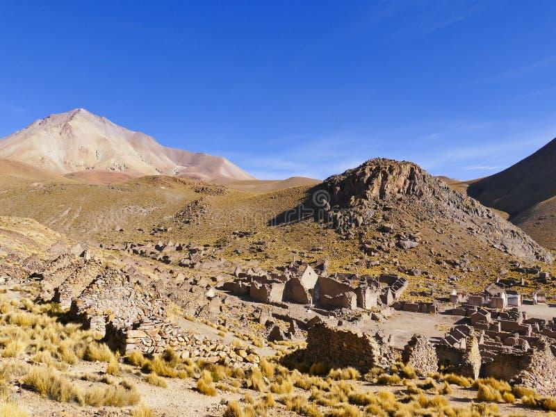 Ruinas de un pueblo minero anterior Fantasma de la ciudad imagen de archivo