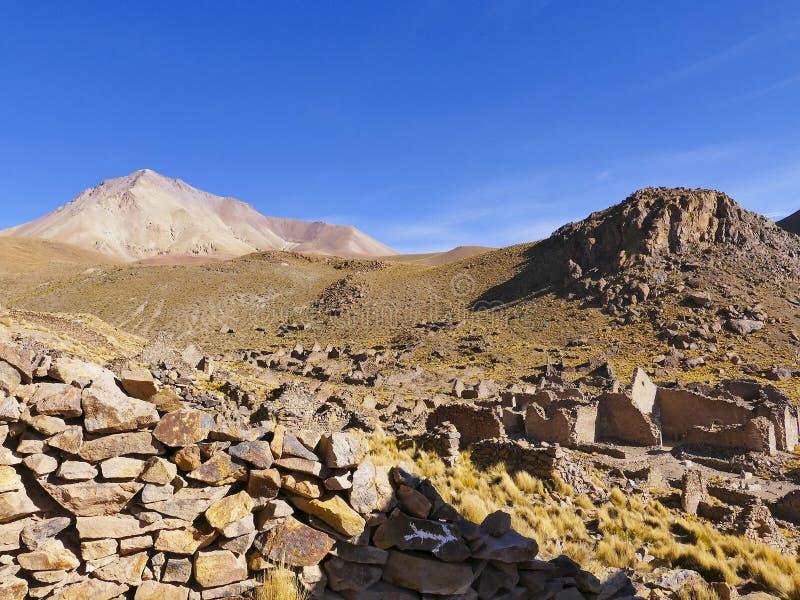 Ruinas de un pueblo minero anterior Fantasma de la ciudad imágenes de archivo libres de regalías