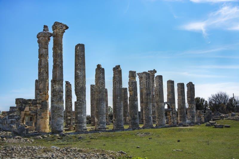 Ruinas de Uzuncaburc, pavo del mersin fotografía de archivo libre de regalías