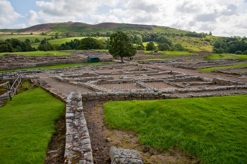 Ruinas de Vindolanda foto de archivo