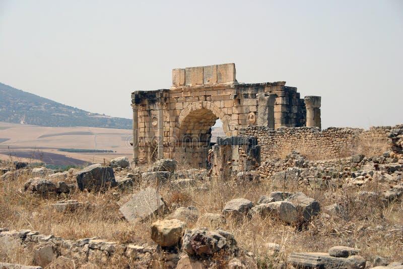 Ruinas de Volubilis imagenes de archivo