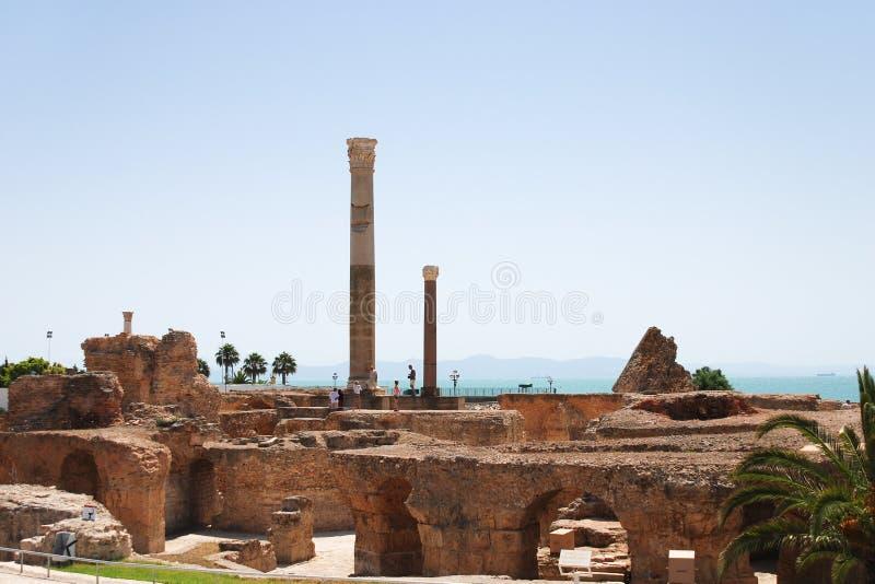 Ruinas del Carthage fotografía de archivo