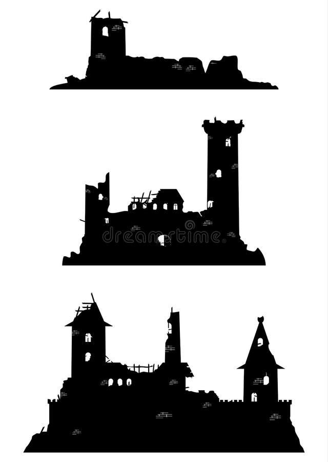 Ruinas del castillo ilustración del vector