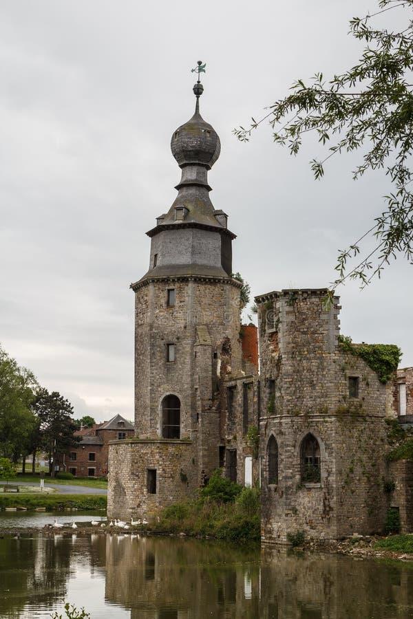 Ruinas del castillo abandonado de Havre fotografía de archivo libre de regalías
