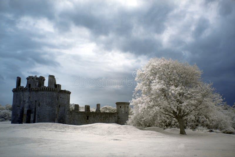 Ruinas del castillo de Caerlaverock, Escocia fotos de archivo libres de regalías