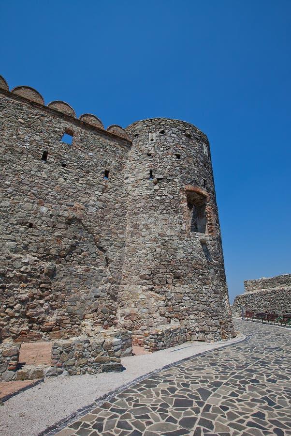 Ruinas del castillo de Devin. Bratislava, Eslovaquia fotografía de archivo