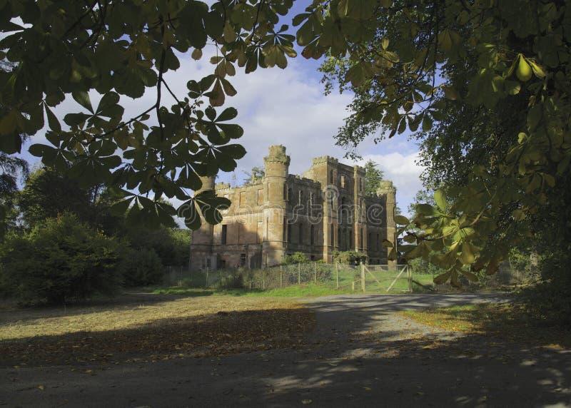 Ruinas del castillo de Gelston fotografía de archivo libre de regalías