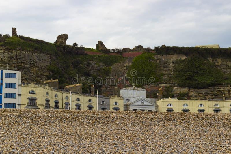 Ruinas del castillo de Hastings fotografía de archivo libre de regalías