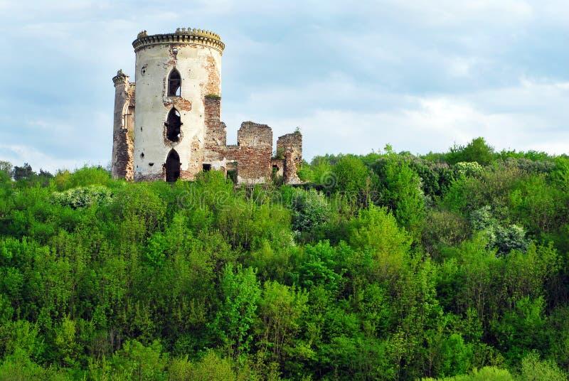 Ruinas del castillo o de la fortaleza antiguo, Ucrania fotografía de archivo libre de regalías